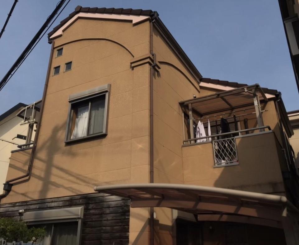 滋賀県草津市G様邸外壁塗装、屋根塗装、防水工事 - BEFORE