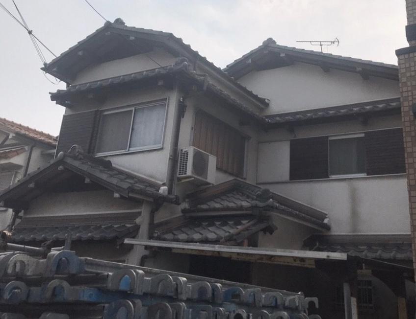 京都府N様邸外壁塗装、屋根塗装、防水工事 - 施工前02