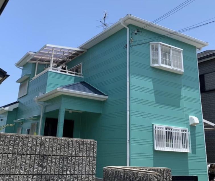 堺市W様邸外壁塗装、屋根塗装、防水工事 - AFTER