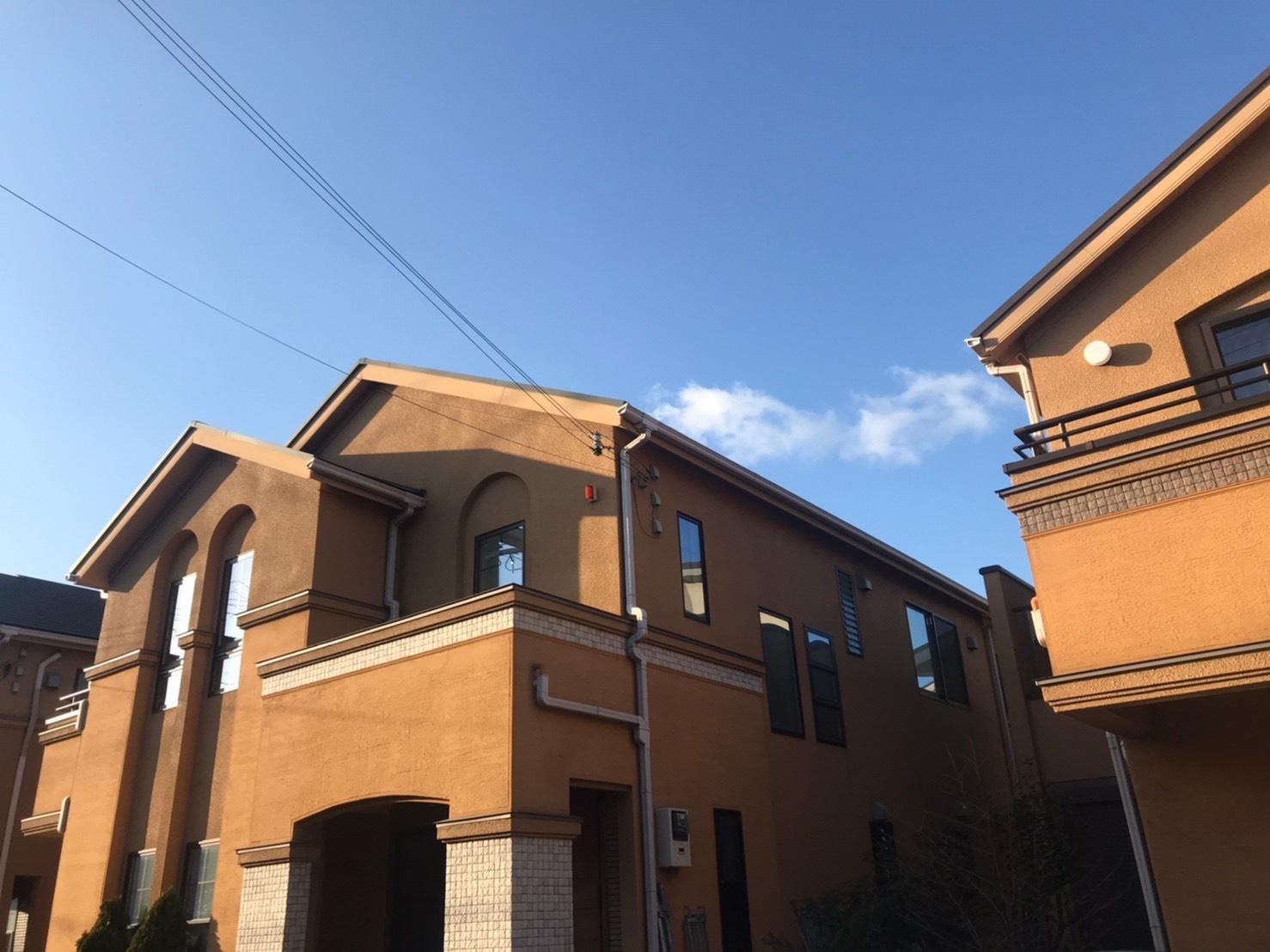 大阪市淀川区Y様邸外壁塗装工事、屋根壁ベランダ防水工事 - BEFORE